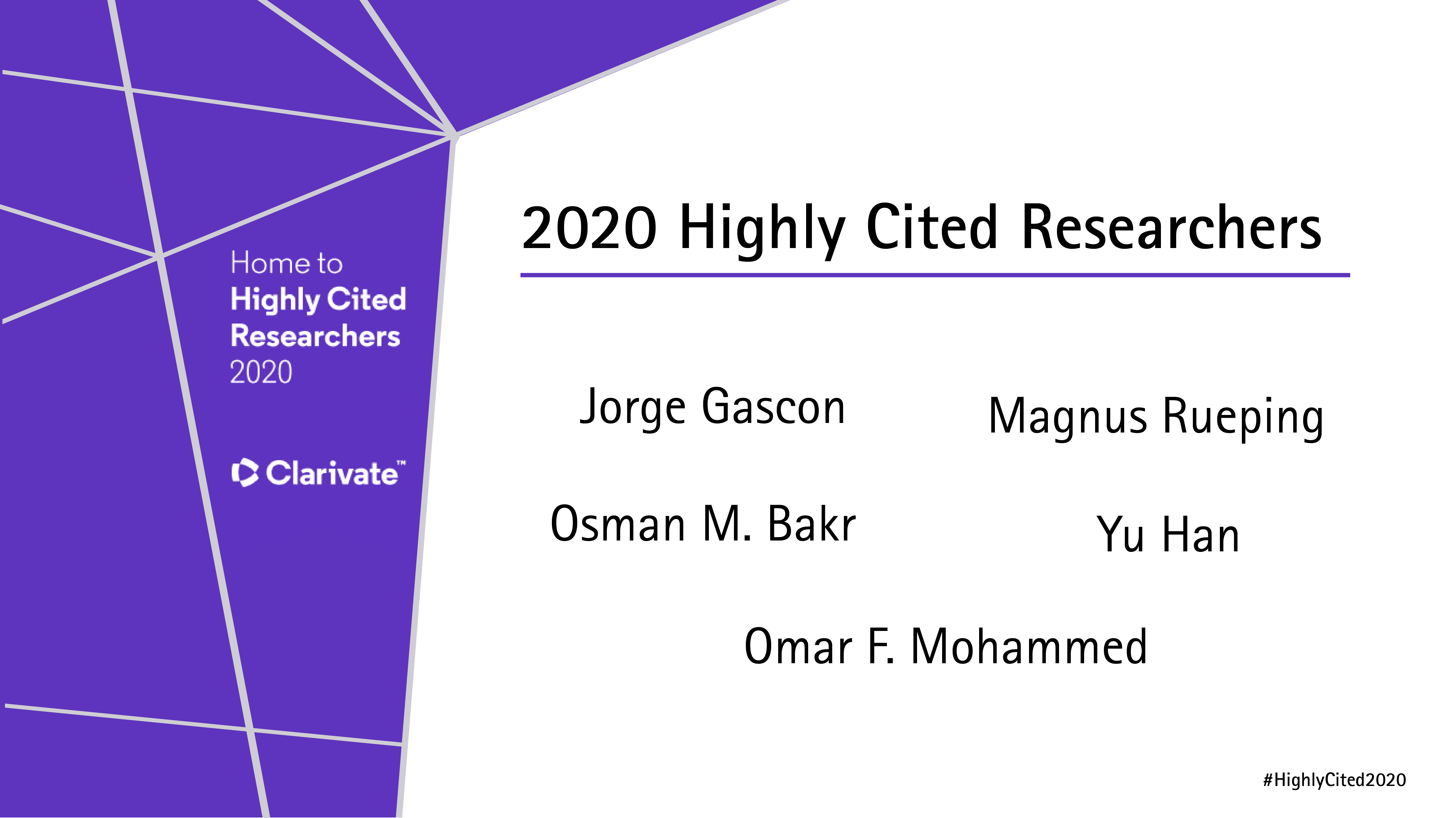 Highly Cited Research 2020